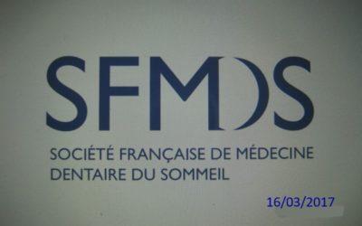 2017 – Journée de formation de la société française de médecine dentaire du sommeil