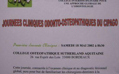 2002 – Journée clinique Odonto-ostéopathique